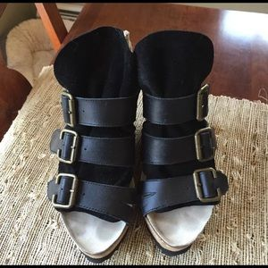 80%20 black leather wedge sandals